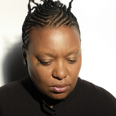 A portrait of musical artist Meshell Ndegeocello.